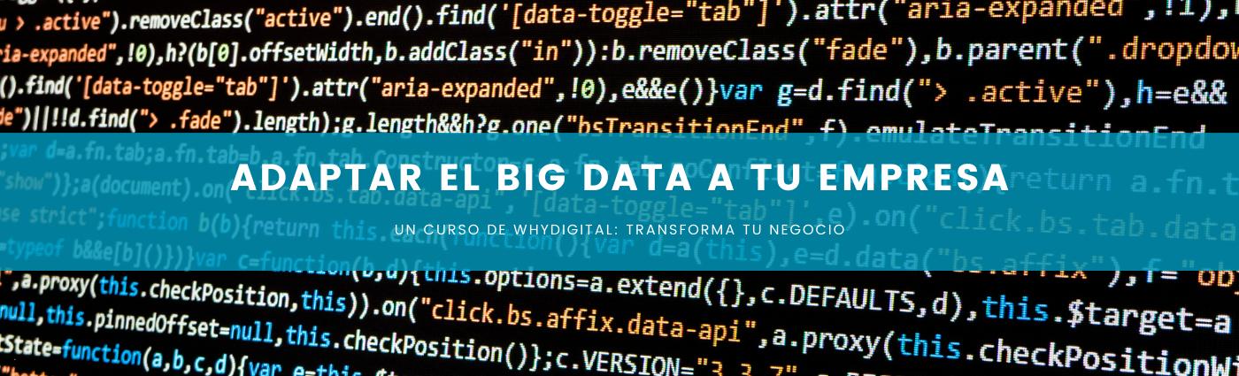 Adaptar el Big Data a tu empresa